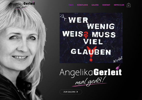 Website f&uumlr die Hamburger Kunstmalerin Angelika Gerleit